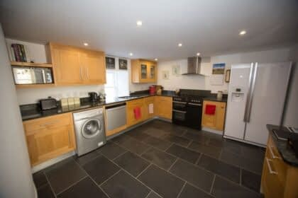 Fully equipped kitchen in our self-catered accommodation in Ballater