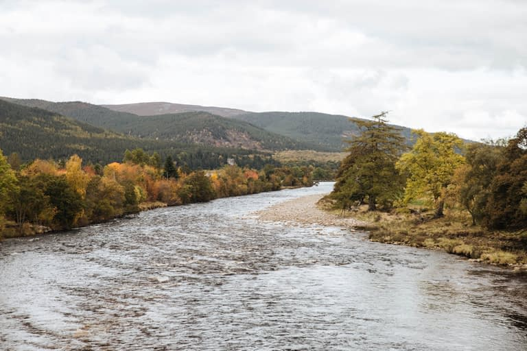 Look at the River Dee on your walk through the Highlands
