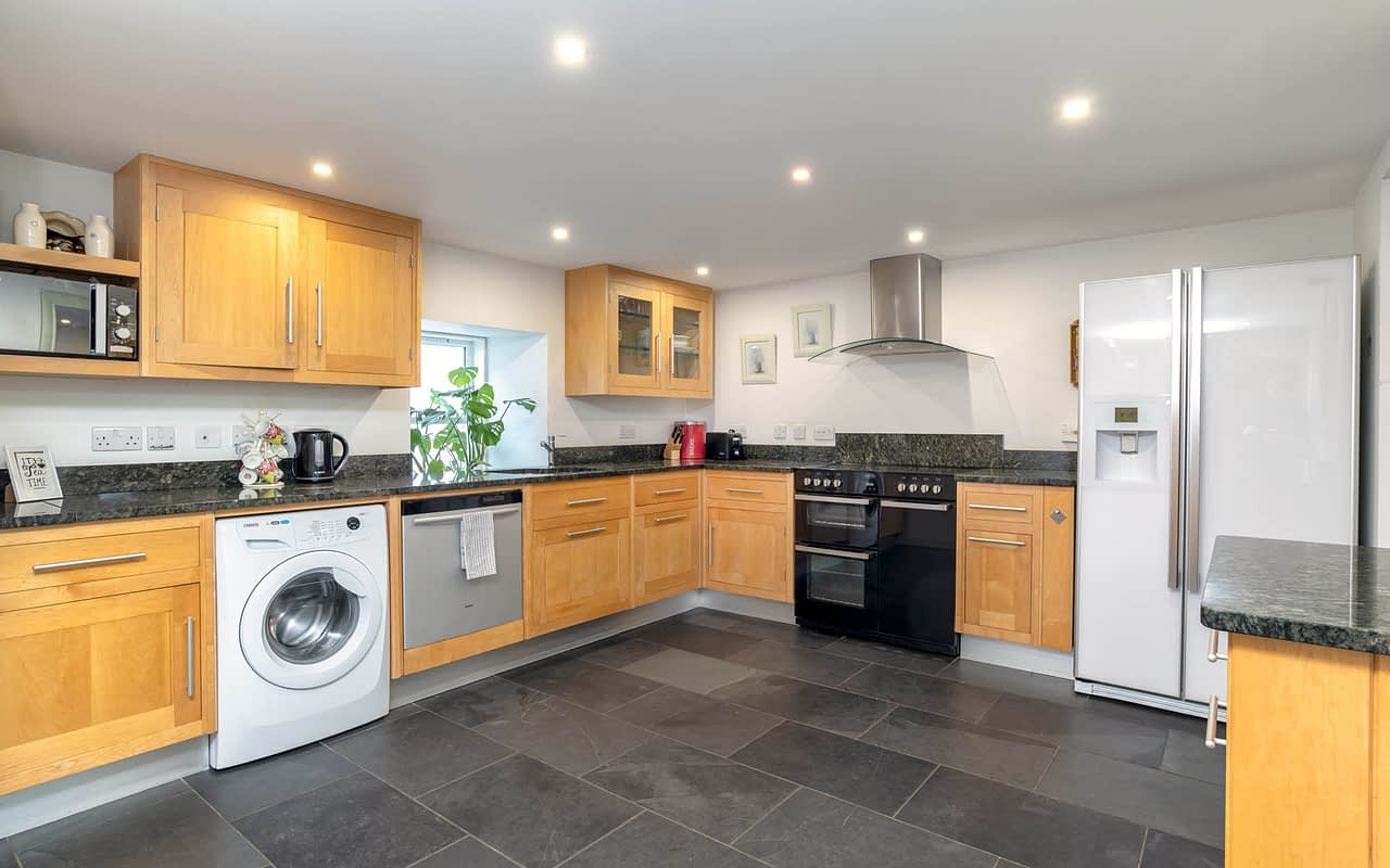 Big kitchen space in this self contained accommodation in ballater