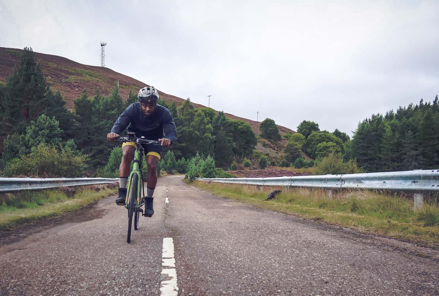 Road cycling is great in The Cairngorms National Park