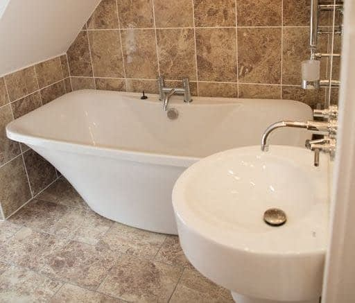 Bath tub in Riverside Cottage Ballater