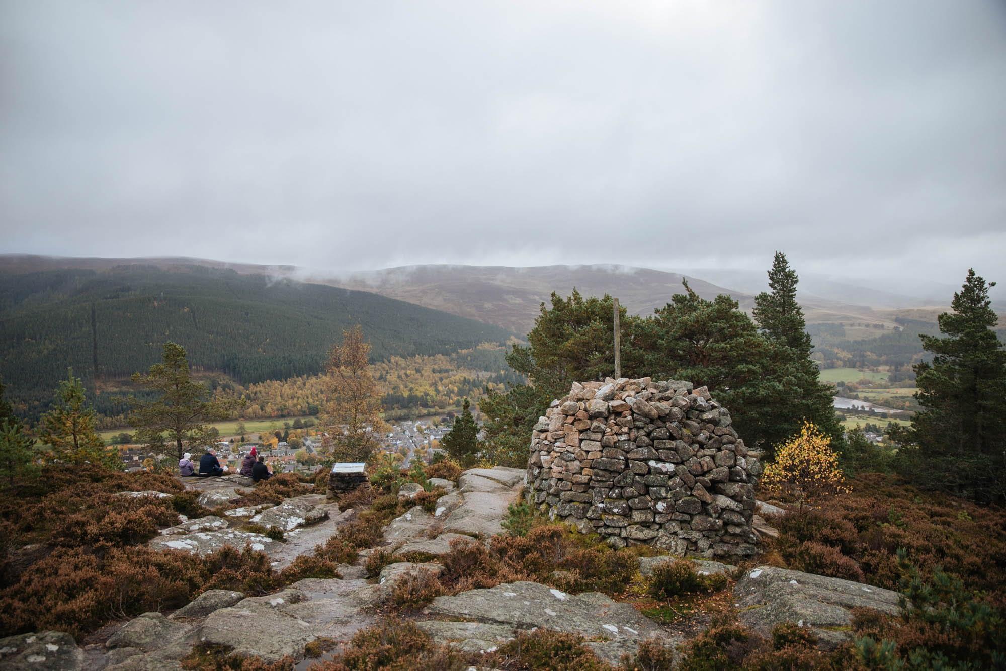 Hiking near Bllater, Craigendarroch, Cairngorms