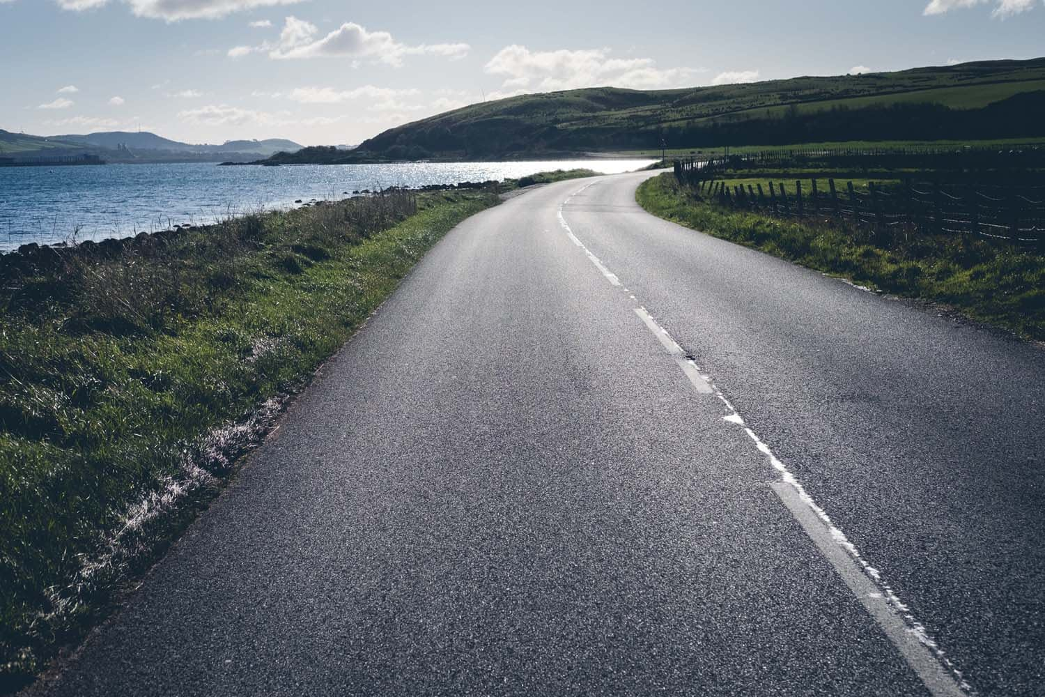 The cycling roads in Scotland are perfect